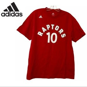 Adidas Raptors De Rozan Red Shirt